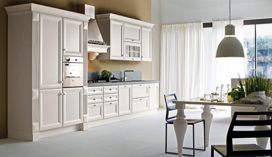 Tủ bếp gỗ xoan đào màu trắng